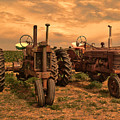 Sunset On The Tractors by Ken Smith