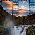 Sunset On The Upper Falls by Rick Berk
