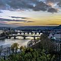 Sunset On The Vltava by David Meznarich