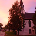 Sunset On The Whitefield Methodist Church by Dorothea Abbott