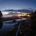 Sunset On Yachats River by Margaret Pitcher