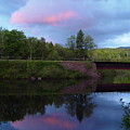 Sunset Over Amoonoosuc River by Dorothea Abbott