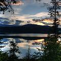 Sunset Over Arrow Lake by Peter Olsen