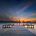 Sunset Over Barnegat Bay by Rick Berk