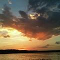 Sunset Over Bridgeport Lake by Elizabeth Harshman