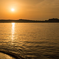 Sunset Over Calvi In Balagne Region Of Corsica by Jon Ingall