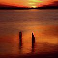 Sunset Over Currituck Sound Ap by Dan Carmichael