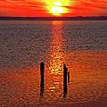 Sunset Over Currituck Sound by Dan Carmichael