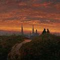 Sunset Over Dresden by Carl Gustav Carus