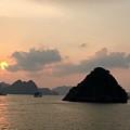Sunset Over Halong Bay - Vietnam  by Evelyne Gaudin