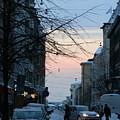 Sunset Over Helsinki by Margaret Brooks