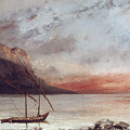 Sunset Over Lake Leman by Gustave Courbet