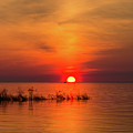 Sunset Over Lake Michigan by Les Palenik
