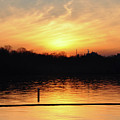 Sunset Over Lake by Wanda-Lynn Searles