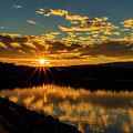 Sunset Over Lake Weiss by Barbara Bowen