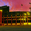 Sunset Over Lambeau Field by Tommy Anderson
