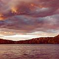Sunset Over Libery Reservoir by T Brian Jones