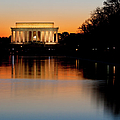 Sunset Over Lincoln Memorial by Brian Jannsen