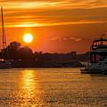 Sunset Over Marina by Nikki Vig