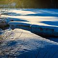 Sunset Over Melting Ice by Jukka Heinovirta