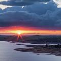 Sunset Over Millerton Lake  by Vincent Bonafede