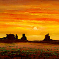 Sunset Over Monument Valley by Connie Tom
