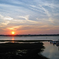 Sunset Over Murrells Inlet by Suzanne Gaff