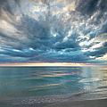 Sunset Over Naples Beach by Brian Jannsen