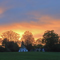 Sunset Over North Common Meadow by John Burk