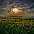 Sunset Over North Pas De Calais In France by Jeremy Lavender Photography