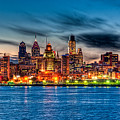 Sunset Over Philadelphia by Louis Dallara