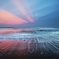 Sunset Over Pololu Black Sand Beach by Charmian Vistaunet