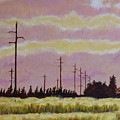 Sunset Over Powerlines by Ken Watson