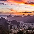 Sunset Over Rio De Janeiro  by Desiree Silva