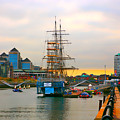 Sunset Over River  Liffey 2 by Alex Art and Photo