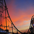 Sunset Over Roller Coaster by Eena Bo
