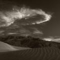 Sunset Over Sand Dunes Death Valley by Steve Gadomski