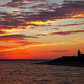 Sunset Over Sandy Neck Lighthouse by Charles Harden