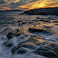 Sunset Over Schoodic Point by Rick Berk