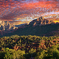 Sunset Over Sedona by Lynn Bauer