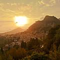 Sunset Over Sicily by Madeline Ellis