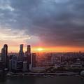 Sunset Over Singapore by Robert Mcgillivray