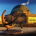 Sunset Over The Adler Planetarium Chicago by Geoff Eccles