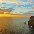 sunset over the Aran Islands by Niall Cosgrove