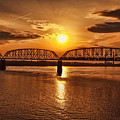 Sunset Over The Bridge by Diana Powell