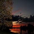 Sunset Over The Caloosahatchee by Judy Hall-Folde