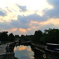 Sunset Over The Canal At Ladbroke Grove. by Steve Swindells