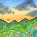 Sunset Over The Forest- Cloaked Mountains by Jennifer Baird