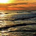 Sunset Over The Gulf by Janet Duffey