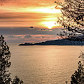 Sunset Over The Italian Riviera by Global Light Photography - Nicole Leffer